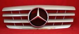 Mercedes W210 E Klasse AMG Look Grill Zilver/Chroom Bj 1999-2002