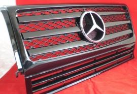 Mercedes W463 Grill G Klasse AMG 010 Look BJ 1990-2010 Glanszwart