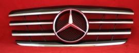 Mercedes W210 E Klasse AMG Look Grill Zwart/Chroom Bj 1999-2002