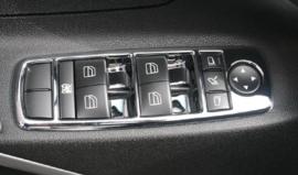 Mercedes W164 ML Klasse AMG Look Chromen Interireur Raam Schakelaars Bj 2005-2011