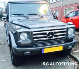 Mercedes W463 Grill G Klasse 010 AMG Look BJ 1990-2010  zwart/chroom