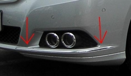 Mercedes W212 E Klasse AMG Look Chromen Sierlijsten Voorbumper Bj 2009-2013
