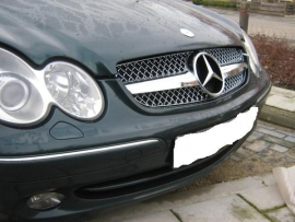 Mercedes W209 CLK AMG look Grill Chroom Bj 2002-2010
