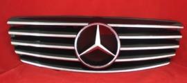 Mercedes W211 E Klasse AMG Look Grill Zwart/Chroom Bj 2002-06/2006