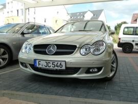 Mercedes W209 CLK AMG look Grill Matzwart Met Chromen Ster Bj 2002-2010