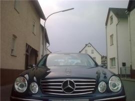 Mercedes W211 E Klasse AMG Look Grill Zwart/Chroom Bj 07/2006-2009