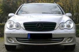 Mercedes W203 C Klasse AMG Look Grill Matzwart Met Matzwarte ster Bj 2000-2008