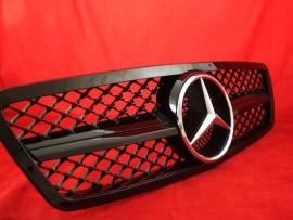 Mercedes W203 C Klasse  AMG Look Grill Glanszwart BJ 2000-2008