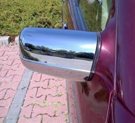 Mercedes W210 E Klasse AMG Look Chromen Spiegelkappen Upgrade Bj 1995-1999
