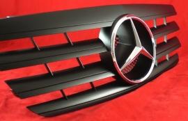 Mercedes W210 E Klasse AMG Look Grill Matzwart Met Chromen Ster Bj 1999-2002