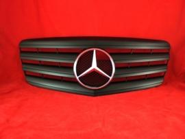 Mercedes W211 E Klasse AMG Look Grill Matzwart Met Chromen Ster Bj 07/2006-2009