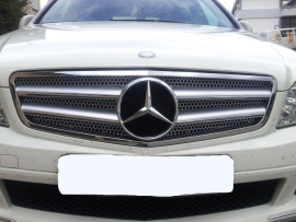 Mercedes W204 C Klasse C63 AMG Look Grill Zilver/Chroom Bj 2007-2014