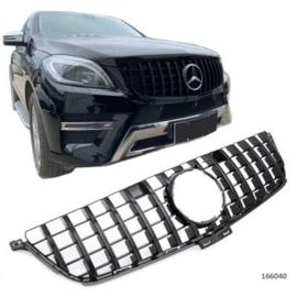 Mercedes W166 ML PANAMERICANA AMG GT LOOK GRILL  Bj  2012/08-2015 Glanszwart