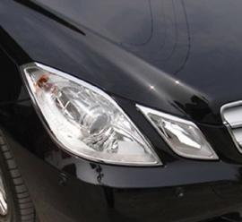 Mercedes W207 E Klasse Coupe AMG Look Chromen Koplampramen Bj 2007-2014