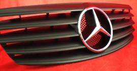 Mercedes W211 E Klasse AMG Look Grill Matzwart Met Chromen Ster Bj 2002-06/2006