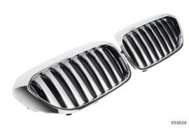 BMW  5 Serie G30-G31 Glanszwart-Chroom Enkele Nieren