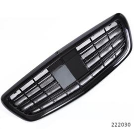 Mercedes W222 S Klasse AMG Look Grill Grillen Sportgrill  Glanszwart Bj  2014-2019
