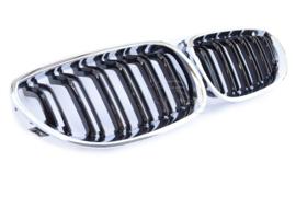 BMW 5 Serie  E60-E61 Glanszwart/Chroom