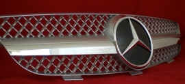 Mercedes W209 CLK AMG Look Grill Zilver/Chroom Bj 2002-2010