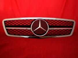 Mercedes W203 C Klasse AMG Look Grill Zwart/chroom Bj 2000-2008