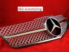 Mercedes W207 Coupe E Klasse AMG Look Grill Chroom Bj 2007-2014