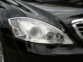 Mercedes W221 S Klasse AMG Look Chromen Koplampramen Bj 2005-2013