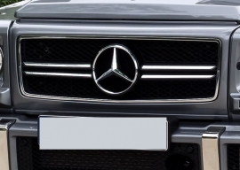 Mercedes W463 Grill G Klasse AMG 013 Look Grill BJ 1990-2014 Zwart/chroom