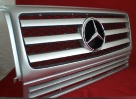 Mercedes W463 Grill G Klasse AMG 010 Look Grill BJ 1990-2010 Zilver/Chroom