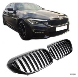 BMW  5 Serie G30-G31 Glanszwart Enkele Nieren