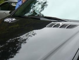 Mercedes W164 ML Klasse AMG Look Chromen Motorkapvinnen Bj 2005-2011