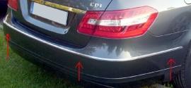 Mercedes W212 E Klasse AMG Look Chromen Achterbumper Sierlijsten Bj 2009-2013