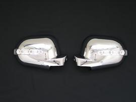 Mercedes W163 ML AMG Look Spiegelkappen met led knipperlicht chroom Bj 1998- 09-2001