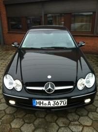 Mercedes W209 CLK AMG look Grill Zwart/Chroom Bj 2002-2010
