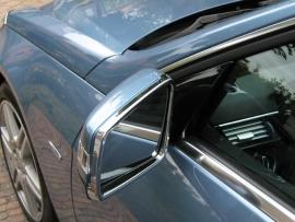 Mercedes W204 C Klasse AMG Look  Chromen Spiegelomrandingen Spiegels Bj Vanaf 8/2008