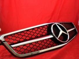 Mercedes W204 C Klasse C63 AMG Look Grill Zwart/Chroom Bj 2007-2014