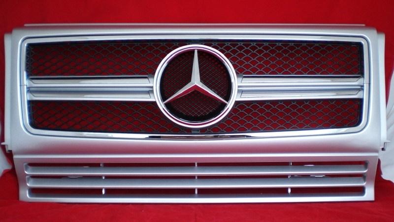Mercedes W463 Grill G Klasse 013 AMG Look Grill BJ 1990-2014 Zilver/chroom
