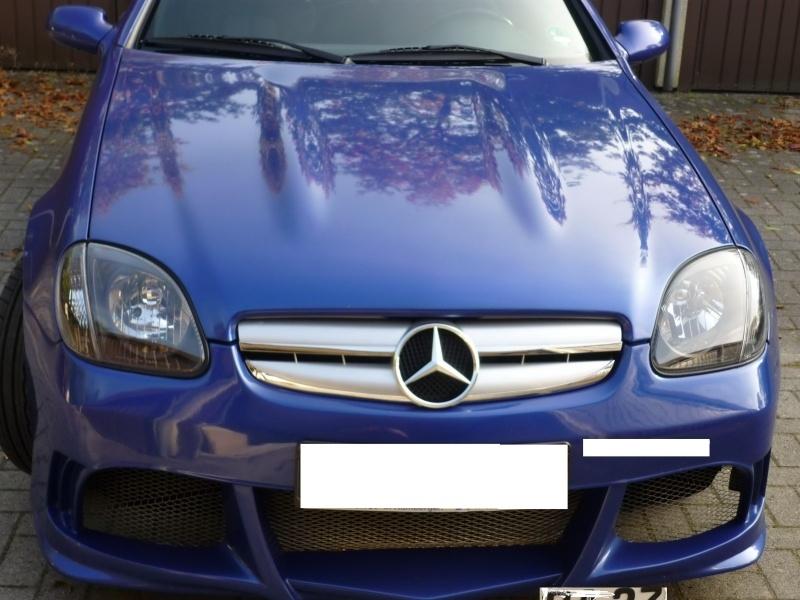 Mercedes R170 SLK AMG Look Grill Bj 1995-2004 Zilver/chroom