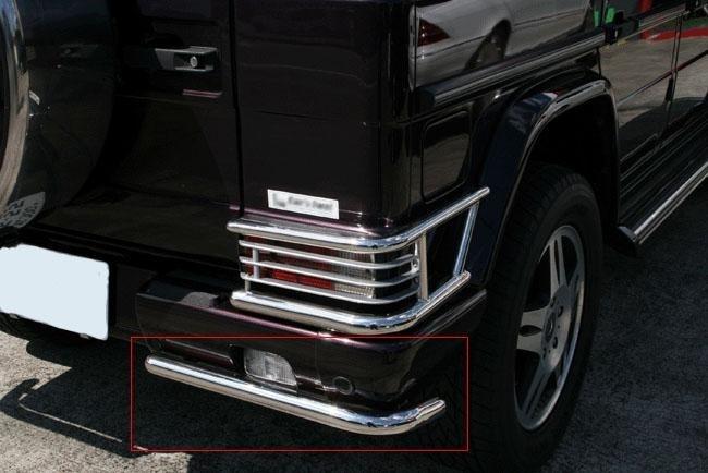 Mercedes W463 G KLasse AMG Look  Edelstaal achter bumper bescherming Bj  1990-2010