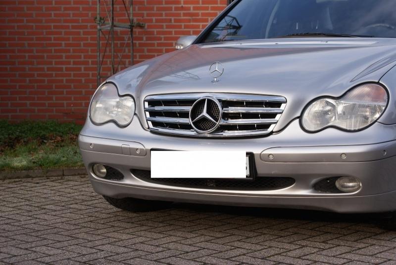 Mercedes W203 C Klasse AMG Look Grill Chroom Bj 2000-2008