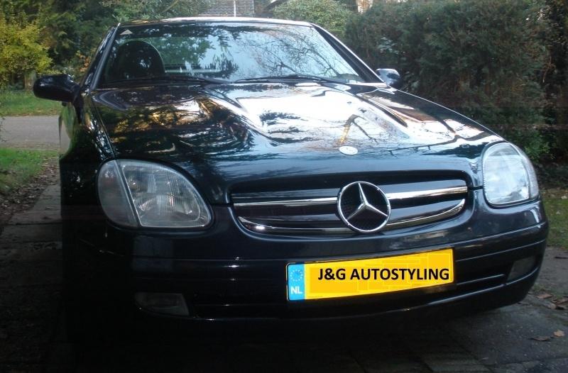 Mercedes R170 SLK AMG Look Grill Bj 1995-2004 Zwart/chroom