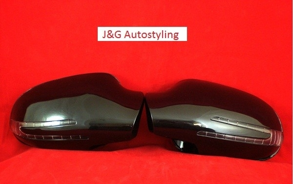 Mercedes R170 SLK AMG Look Spiegelkappen Upgrade V-Led Zwart Bj 1995-2004