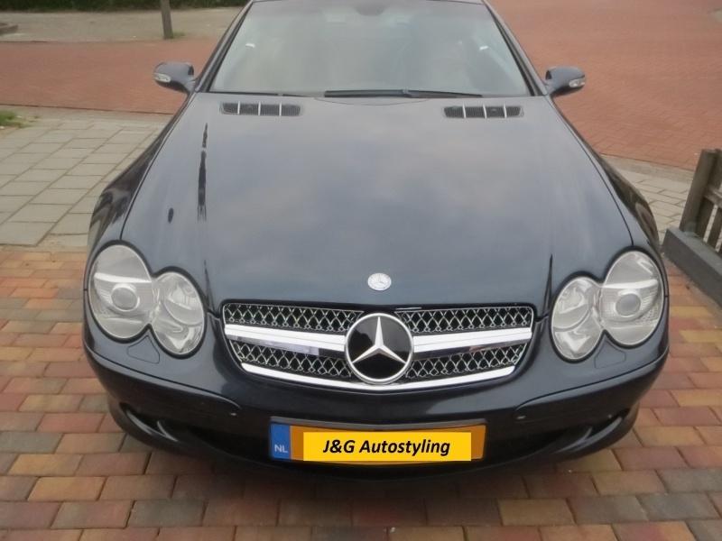Mercedes R230 SL AMG Look Grill Sportgrill  bj 2001-2011 Zwart/chroom