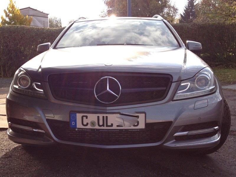 Mercedes W204 C Klasse C63 AMG Look Grill Matzwart Met Chromen Ster Bj 2007-2014