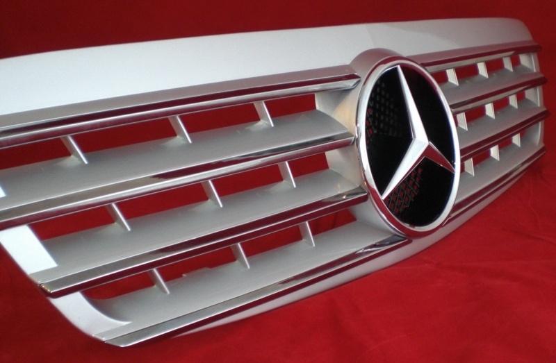 Mercedes W220 S Klasse AMG Look Grill Zilver/chroom Bj 1998-2002