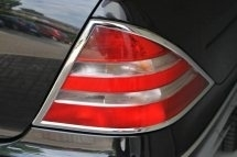 Merceders W220 S Klasse AMG Look Chromen Achterlampramen  BJ 1998-2005