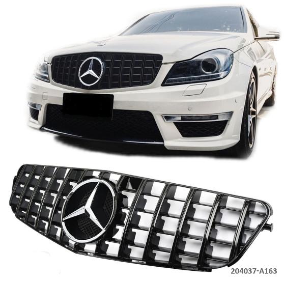 Mercedes W204 C panamericana GT-R AMG Look Sportgrill Grill Glanszwart