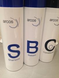Arcos verzorgingsset voor haarwerk / pruik , synthetisch haar ( 3 x 200 ml).