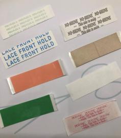 Assortiment plakstrips om te testen (8  verschillende tapes elk 3 stuks - totaal 24 stuks)
