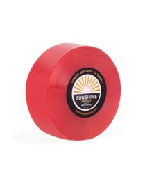 Sunshine Liberty red tape, Red liner als ondertape en plakken