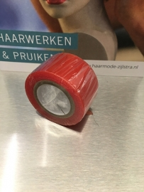 Red liner (RL) ondertape  dubbelzijdig. (rol 3 meter, 25 mm breed)